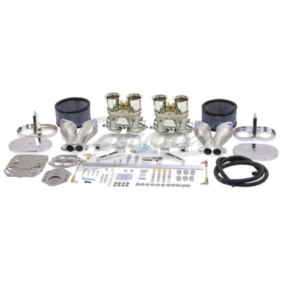 Kit carburadores EMPI duplos 40/40 IDF Racing VW Fusca AR